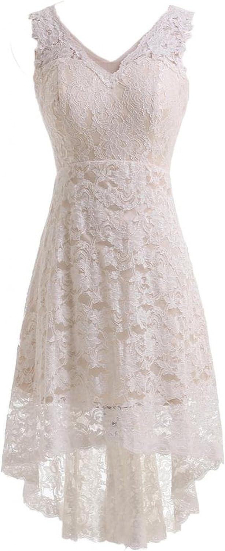 JOYNO BRIDE Vneck Lace HILO Ivory Evening Dress for Reception Wedding Dress
