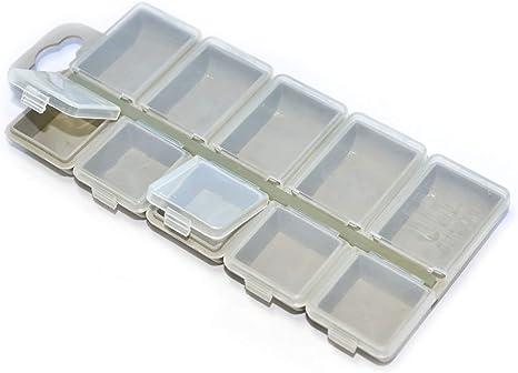 Cajas de Almacenaje Plastico Caja de Accesorios Caja Pesca Accesorios Caja Ajustable Caja Plastico 10 Compartimentos 2310: Amazon.es: Hogar