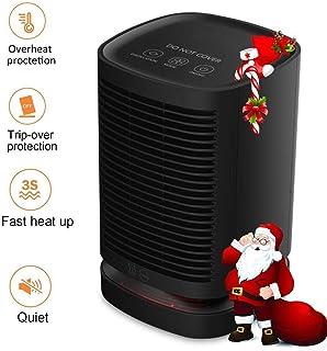 Greyghost Calefactor Eléctrico Cerámico Portátil 950W Mini Ventilador de Calefactor de Espacio, 3 Configuraciones de Temperatura,Giratorio de 90°, Seguridad para Hogar y Oficina