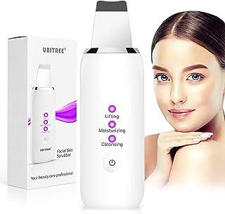 Ultraschallpeelinggerät, Ubitree Skin Scrubber Ultraschall Peeling Porenreiniger Hautreiniger Ionen Hautreiniger Spatel Facelifting Massagegerätfür für Gesichtsreinigung Gesichtspflege