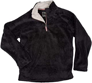True Grit Mens Double Plush 1/4 Zip Pullover