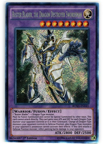 Yu-Gi-Oh! - Buster Blader, the Dragon Destroyer Swordsman (BOSH-EN045) - Breakers of Shadow - 1st Edition - Secret Rare by Yu-Gi-Oh!