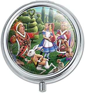 Alice in Wonderland Garden Party Pill Case Trinket Gift Box