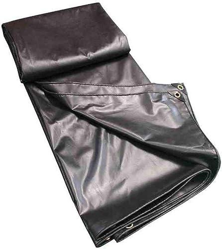 QLLYB Tissu antipluie Sun bache de Prougeection Camion bache Noire bache PVC Enduit auvent auvent, différentes Tailles (Taille   3m4m)