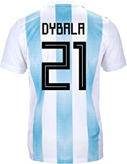 adidas Dybala #21 Argentina Official Youth Home Soccer Jersey World Cup Russia 2018