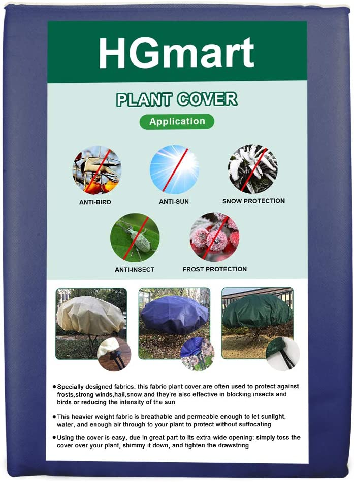 Max 66% OFF HGmart Round Frost Protection Oakland Mall Plant Blanket O Fabric Cover