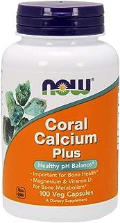 NOW Supplements, Coral Calcium Plus, Bone Health*, Healthy pH Balance*, 100 Veg Capsules