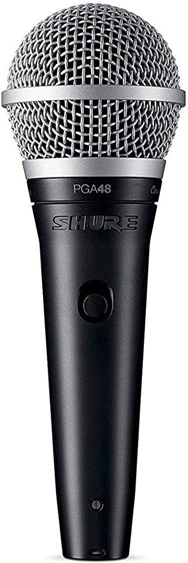 Microfono dinamico Shure pga48 - per voce con pattern polare a cardioide, completo di cavo xlr-xlr PGA48-XLR-E