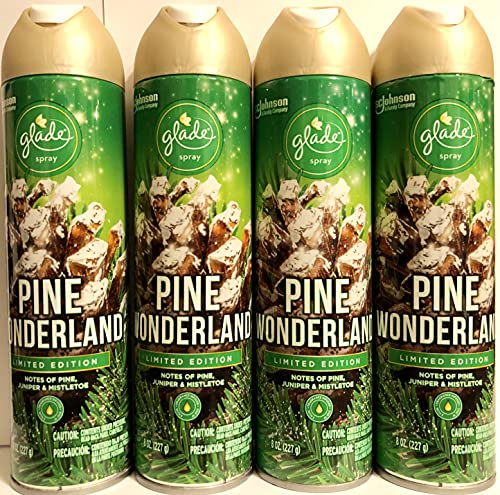 Glade Air Freshener Spray - Pine Wonderland - Holiday Collection 2020 - Net Wt. 8 OZ Per Can - Pack of 4 Cans