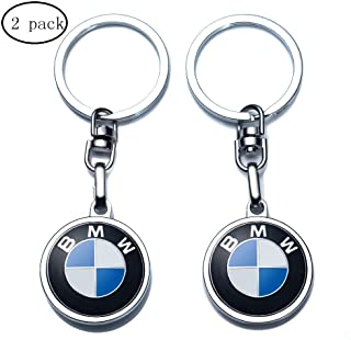 JIYUE Compatible for BMW Keychains 3D Car Logo Key Chain Key Ring Accessories,Suit for BMW 1 3 5 6 Series X5 X6 Z4 X1 X3 X7 7 Series Gift Present for Men and Woman (2pcs)…