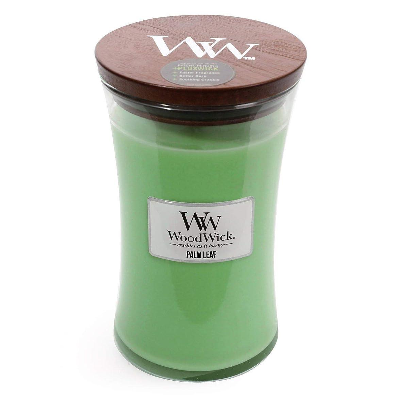 平均あいさつ水陸両用Palm Leaf WoodWick 22?oz Large砂時計Jar Candle Burns 180時間