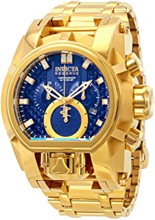 Invicta Reserve Mens 52mm Bolt Zeus Magnum Swiss Quartz Dual Movement Bracelet Watch (25209)