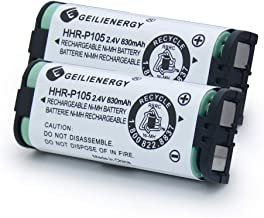 GEILIENERGY HHR-P105 Battery Compatible for Panasonic HHRP105A HHR-P105B KX242 KX-242 KX2420 KX-2420 KX2421 KX-2421 KX2422 KX-2422 KXTG5779 91AAALH2BXZ(Type 31) BATT105 BATT-105 Cordless phone(2 Pack)