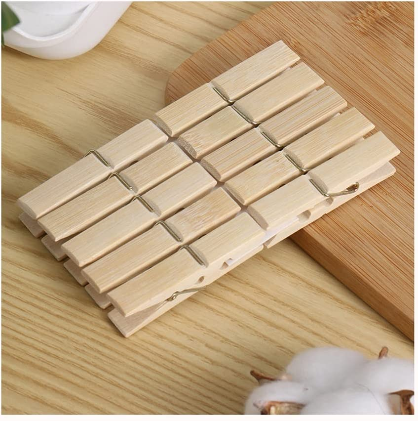 DEI QI 200 Pack Wooden Super intense SALE Max 63% OFF Clothespins 2.3 0.4 X Inch Clothe
