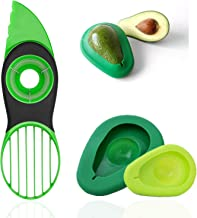 Avocado Slicer, 3 in 1 Avocado Cutter Tool with Avocado Saver Keeper, Avocado Pit Remover Multifunctional Avocado Pitter (...