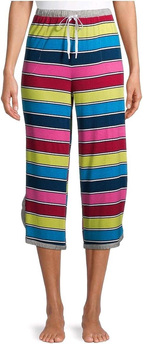Secret Treasures Multi Stripe Lounge Sleep Capri Pants