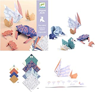 DJECO ジェコ オリガミ ファミリー 【DJ08759】 おもちゃ 知育玩具 折り紙 オリガミ 工作 手作り キット セット 説明書付き 動物 こども キッズ かわいい プレゼント ギフト 誕生日 クリスマス ベージュ