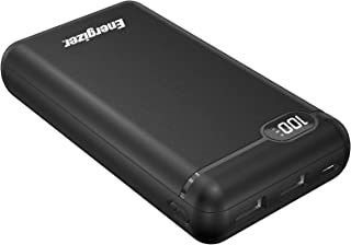 Energizer MAX 20000mAH Power Bank, Power Delivery, Fast Charging, LCD Display, Two Outputs and Inputs - USB-C, USB-A,Up To 18W