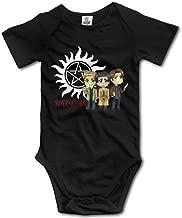 SAMMOI Supernatural Logo Baby Triangle Romper Bodysuit Jumpsuit Onesie Black