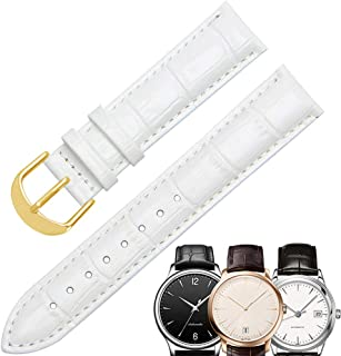 Bracelet de montre en cuir, bracelet en cuir de veau pour femme Bracelet en cuir avec fermoir en métal en acier inoxydable...