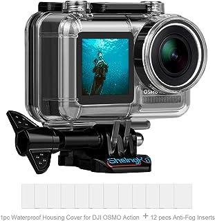 Funda de Buceo Impermeable para cámara de acción de DJ Osmo Carcasa de Repuesto Impermeable para dji Osmo Action 45 m Kit de Accesorios para cámara
