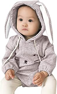 Kehen Baby Easter Costume Infant Toddler Girl Boy Spring Outfit Rabbit Hoddie Warm Winter Outerwear