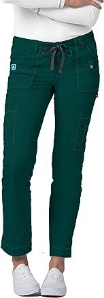 Adar Pop-Stretch Jr. Fit Low-Rise 11-Pocket Slim Cargo Pants