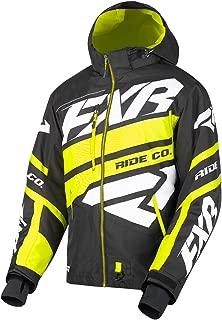 FXR Mens Boost X Jacket (Black/Hi Vis/White, Large)