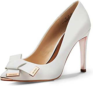 d9b8f53df3 JENN ARDOR Women's Stiletto High Heel Pumps Pointy Toe Bowknot Slip On  Bridal Wedding Shoes