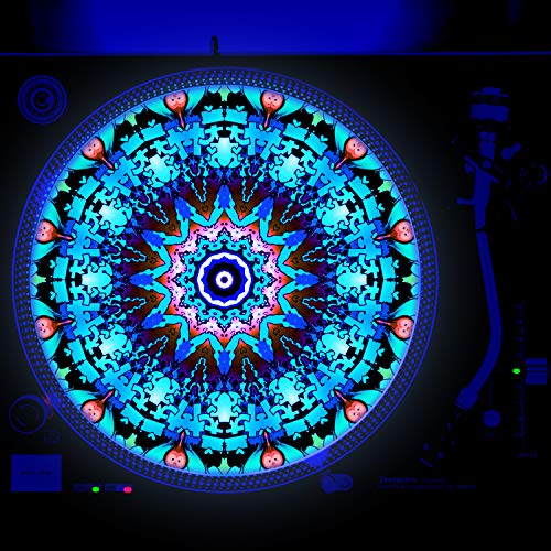 Aztec Sand Dollar - DJ Turntable Slipmat 12 inch GLOW (glows under black light)