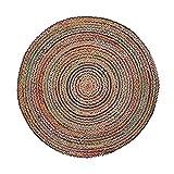 Kave Home - Alfombra Saht Multicolor Redonda Ø 150 cm de Yute Natural