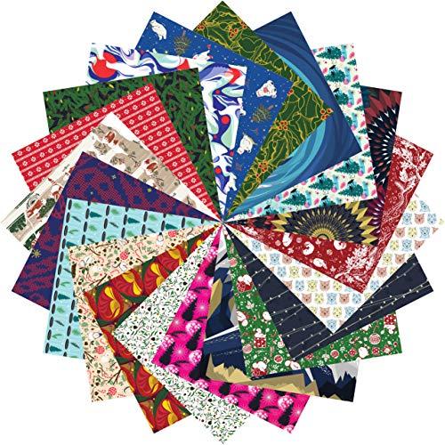 Folded Square Origami – Set de regalo de papel de origami navideño | 200 Hojas, 15cm Cuadrado | Gran Colección de Navidad
