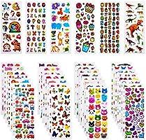 Habett 3D Aufkleber für Kinder & Kleinkinder, 920+ Geschwollen Stickers, Niedliche Verschiedene Set Buchstab en, Tier,...