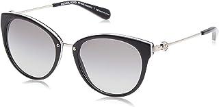 MICHAEL KORS Women's Abela III 312911 55 Sunglasses, Black/White/Gradient