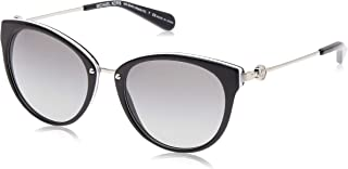 MICHAEL KORS Women's Abela III 312911 55 Sunglasses, Black/White/Gradient