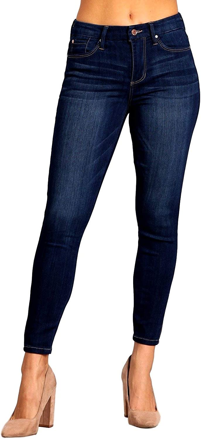CelebrityPink Women's Mid Rise Skinny Jeans CC40419H18