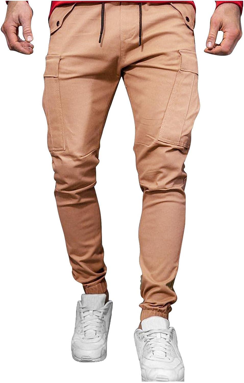 Huangse Men's Loose Overalls Sportswear Casual Streetwear Hipster Trousers Hip Hop Joggers Drawstring Cargo Harem Pants