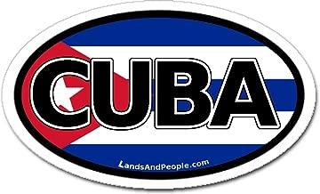 Cuba y bandera de Cuba coche Bumper adhesivo ovalado