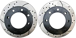 Auto Shack R41586R41605PR 4 Front and Rear Brake Disc Rotors