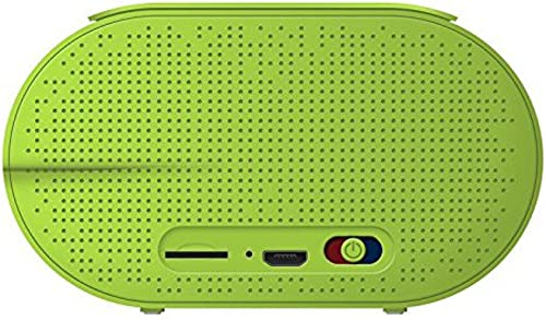 PopClik AIRYBOX Portable Wireless Bluetooth 4.0 Shockproof Rugged Speaker with Aux 3.5 mm + Micro SD Card Input - Light Green
