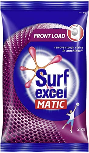 Surf Excel Matic Front Load Detergent Washing Powder, Specially Designed For Tough Stain Removal In Front Load Machin...