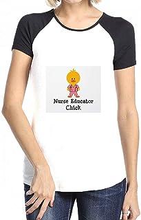 トップス 看護師教育者チック Women Raglan Short Sleeve T-Shirt レディーズ Tシャツ