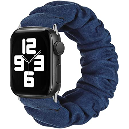 Rubber band 35mm black blue striped on both sides