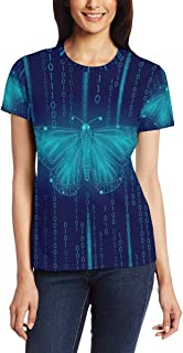 T-shirt voor vrouwen meisjes code vlinders nul een aangepaste korte mouw