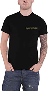 Iron Maiden T Shirt Powerslave Head Back Print Band Logo Official Mens Black