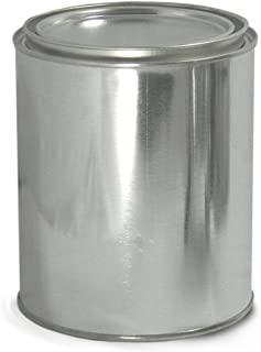 Qorpak MET-03090 Metal Unlined Round Paint Can with Triple Tite Lid and Securing Clips, 1 pint Capacity, 307 mm Diameter x 314 mm Height, Case of 24