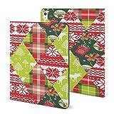 Étui pour iPad 2020 Air 4 (11 pouces), motif patchwork de Noël et du Nouvel An, avec support...