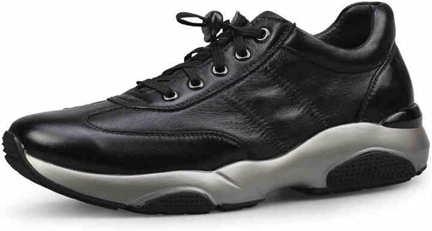 SUN Men's Fashion Casual Sports shoes Leather Warm Winter Black and Black Camouflage (color   3, Size   EU40 UK7 CN41)