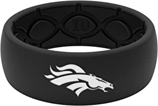 NFL Denver Broncos - Groove Life Silicone Ring for Men and Women Rubber Band with Lifetime Coverage, Breathable Grooves, Comfort Fit, and Durability - Original