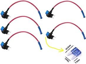 Qiorange Circuit Fuse Tap Piggy Back Standard Blade Ato Atc Fuse Holder Box 12V 24V 5pcs